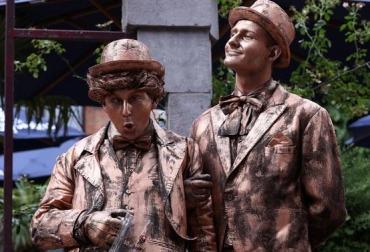 Фото живые статуи