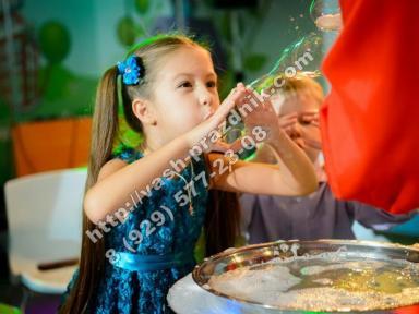 Организация детских праздников в Москве, шоу мыльных пузырей Москва